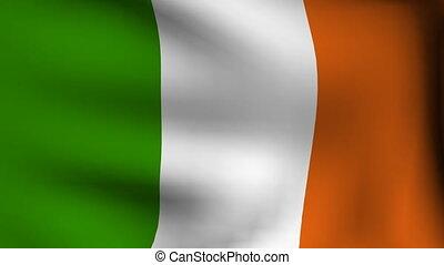 animation, drapeau, irlande