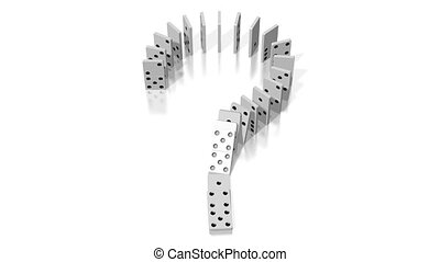 animation, effet, domino, 3d