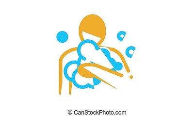 animation, healthcare, icône, hygiène