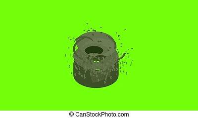 animation, icône, caoutchouc, pneu