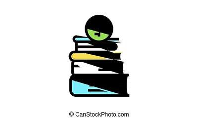 animation, icône, financier, couleur éducation