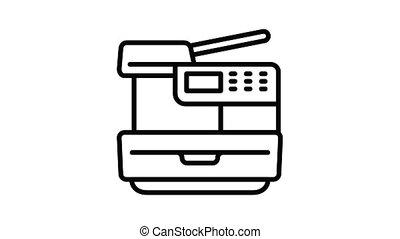 animation, icône, imprimante