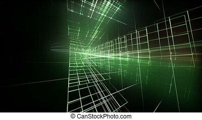 animation, lumière, vidéo, hd, boucle, technologie, 1080p, futuriste