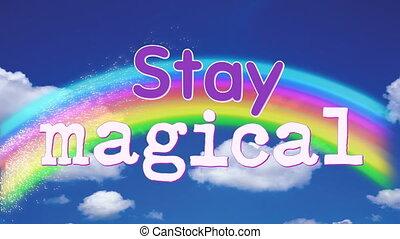 animation, magique, mots, séjour