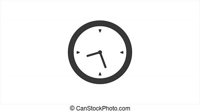 animation., marche vitesse, quatre, chronomètre, heures, élevé, horloge, icône, flèches, fast., vingt