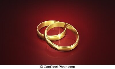animation, mariage, 3d, rings.