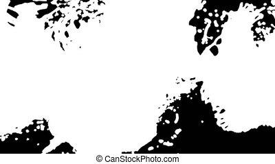 animation, noir, 3d, fond, liquide