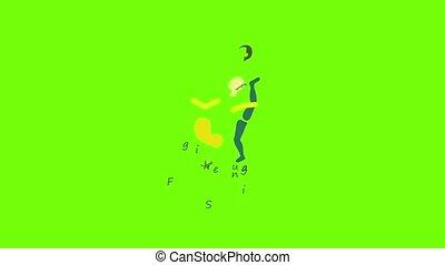 animation, patinage, figure, icône