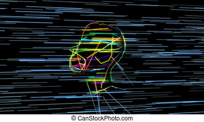 animation, -, psychologie, 3d