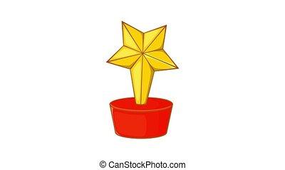 animation, récompense, icône, étoile