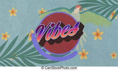 animation, sur, fleurs, vibes, usines, texte
