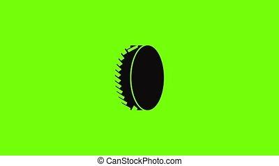 animation, une, icône, pneu