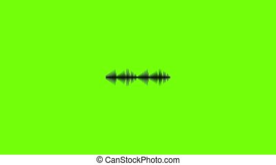 animation, voix, compensateur, icône