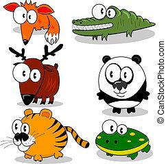 animaux, dessin animé