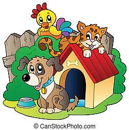 animaux domestiques, trois