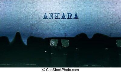 ankara, papier, vieux, typewriter., feuille, mots, vendange, dactylographie