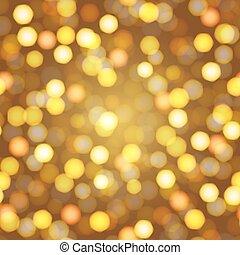 année, lumières, defocused, fond, nuit, nouveau