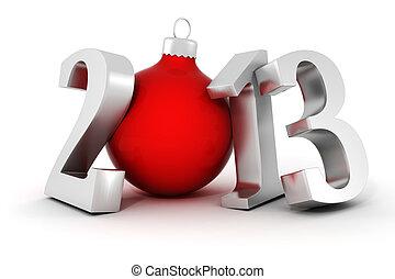 !, année, nouveau, heureux, 2013, 3d