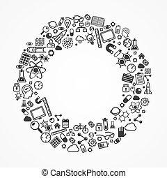 anneau, ensemble, icons.