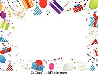 anniversaire, éléments, célébration
