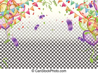 anniversaire, bannière, célébration