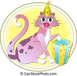 anniversaire, chat