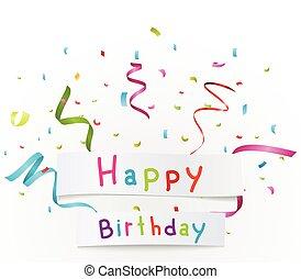 anniversaire, fond, célébration
