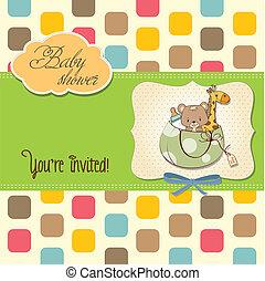 annonce, même, sac, jouets, bébé, nouveau, carte