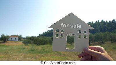 annonce, maison, vente