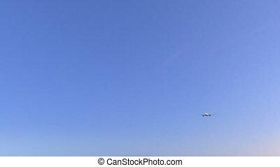 annonce publicitaire avion, arrivant, ahmedabad, voyager, animation, inde, conceptuel, aéroport., 4k