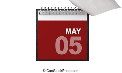 annuellement, animation, calendrier