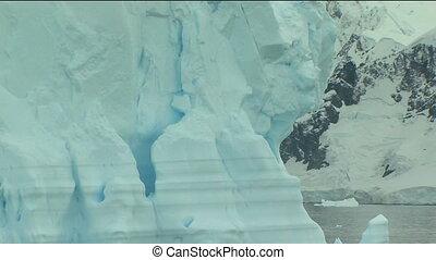 antarctique, iceberg, détail