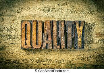 antiquité, blocs, letterpress, type, impression, -, bois, qualité