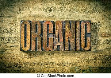 antiquité, bois bloque, letterpress, -, impression, organique, type