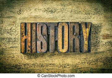 antiquité, bois bloque, letterpress, -, impression, type, histoire