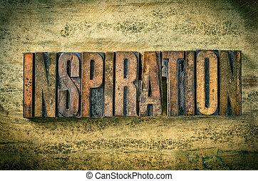 antiquité, bois bloque, letterpress, -, impression, type, inspiration