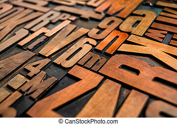 antiquité, bois bloque, letterpress, impression, type