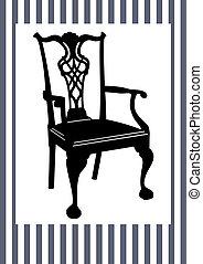 antiquité, chaise