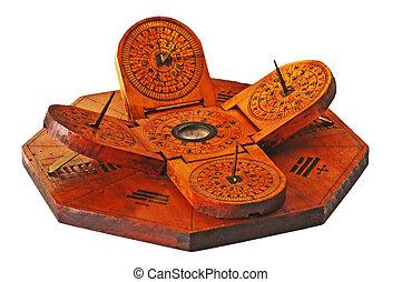 antiquité, chinois, cadran solaire