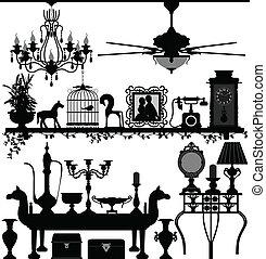antiquité, décoration maison, meubles