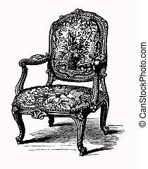 antiquité, fauteuil