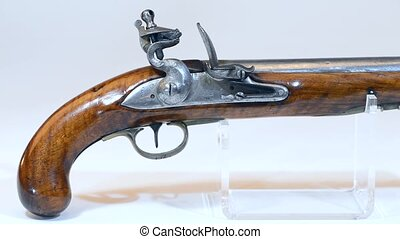 antiquité, flintlock, pistol.