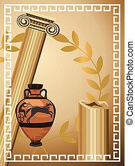 antiquité, grec, symboles
