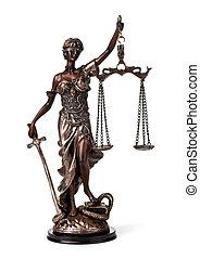 antiquité, justice, statue