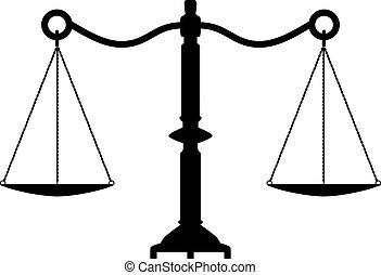 antiquité, justice, vecteur, balances