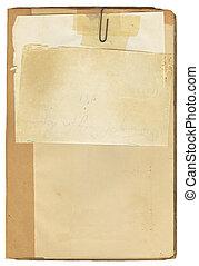 antiquité, livre note, papier
