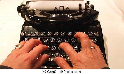 antiquité, remmington, modèle, machine écrire