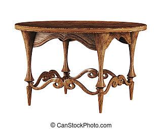 antiquité, table ronde, 3d