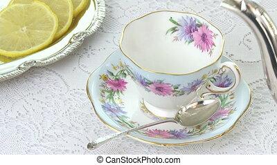 antiquité, tasse thé