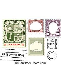 antiquité, timbre postal